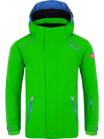 "Trollkids Kurtka narciarska ""Holmenkollen Pro"" w kolorze zielonym"