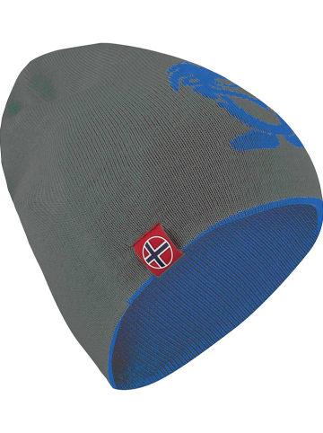 """Trollkids Dwustronna czapka beanie """"Troll"""" w kolorze szaro-niebieskim"""