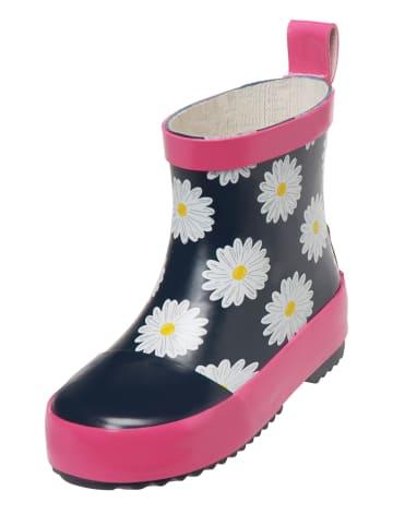 Playshoes Rubberlaarzen donkerblauw/roze