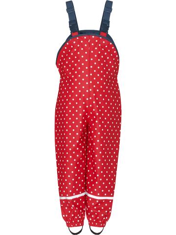 Playshoes Ogrodniczki przeciwdeszczowe w kolorze czerwonym