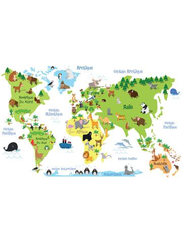 """Ambiance Wandtattoo """"World map"""""""