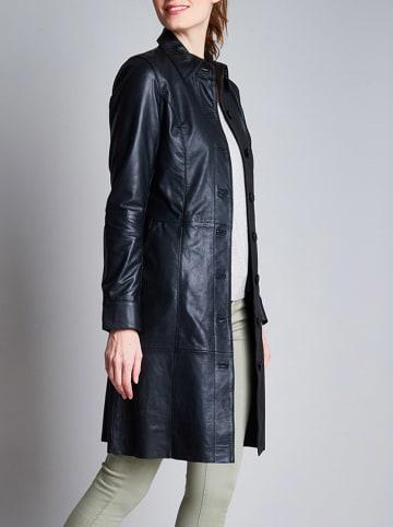 Isaco und Kawa Skórzany płaszcz w kolorze czarnym