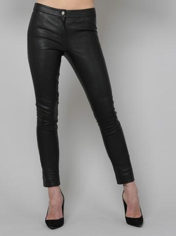 Isaco und Kawa Skórzane spodnie w kolorze czarnym