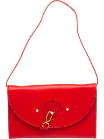Liebeskind Leren clutch rood - (B)27 x (H)19 x (D)3,5 cm