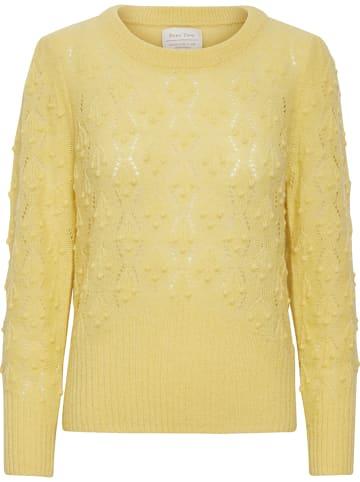"PART TWO Sweter ""Olizas"" w kolorze żółtym"
