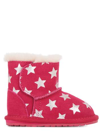 "EMU Leren winterboots ""Toddle Starry Night"" roze"