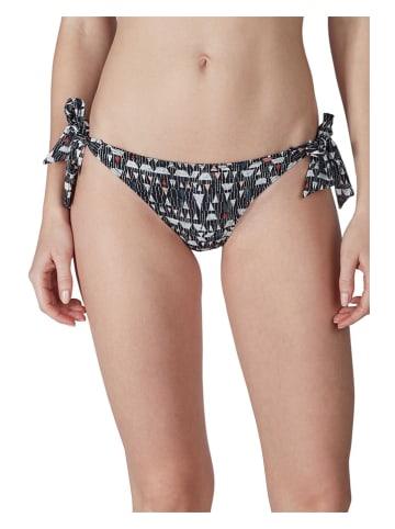 Skiny Bikini-Hose in Schwarz/ Bunt