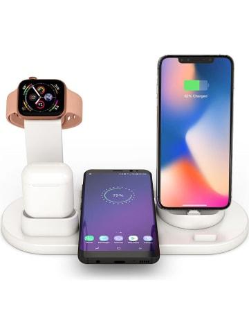 SmartCase Dockingstation voor iPhone, Apple-Watch, AirPods en micro-USB wit