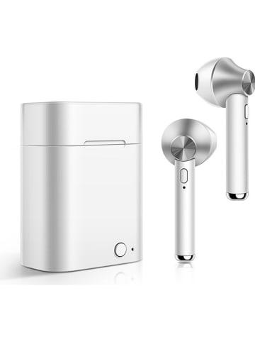 SmartCase Bluetooth-In-Ear-Kopfhörer in Silber