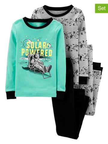 Carter's 2-delige set: pyjama's turquoise/groen/zwart