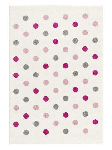 "Kids love rugs Geweven tapijt ""Confetti"" crème/lichtroze"