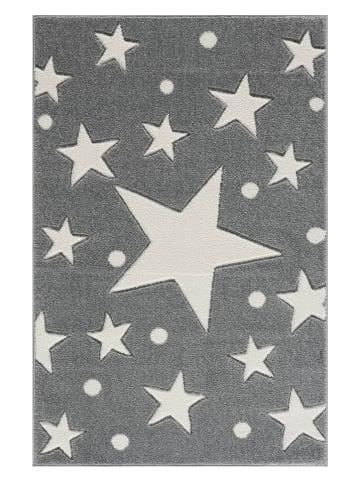 """Kids love rugs Webteppich """"Estrella"""" in Silbergrau/ Weiß"""