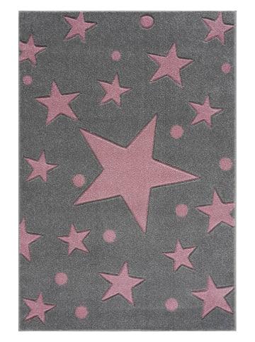 """Kids love rugs Geweven tapijt """"Estrella"""" grijs/lichtroze"""