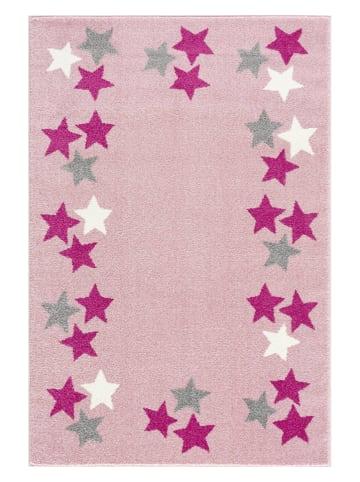"Kids love rugs Geweven tapijt ""Spring"" lichtroze/wit"