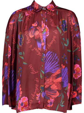 Free people Bluzka w kolorze fioletowo-bordowym