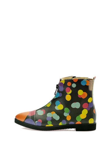 Goby Ankle-Boots in Schwarz/ Bunt