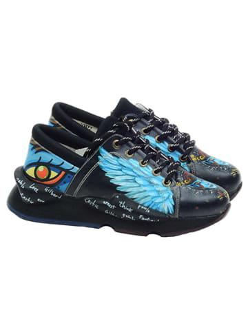 Goby Sneakers blauw/zwart