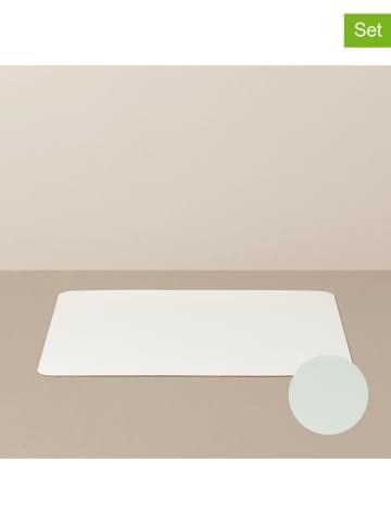 Livø Podkładki (4 szt.) w kolorze biało-miętowym - 31 x 27 cm