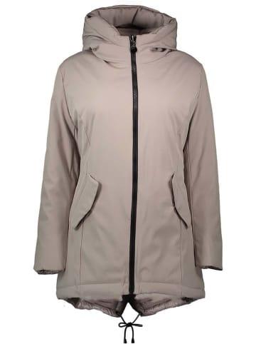 Winter Selection Dwustronna kurtka zimowa w kolorze szarobrązowym