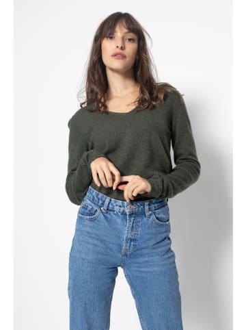 AUTHENTIC CASHMERE Kaszmirowy sweter w kolorze khaki