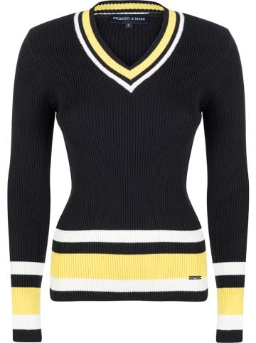 GIORGIO DI MARE Sweter w kolorze czarno-żółtym