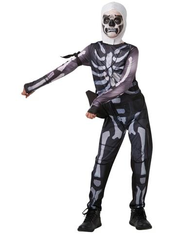 """Rubie`s 4-częściowy kostium """"Skull Trooper Fortnite"""" w kolorze antracytowym"""