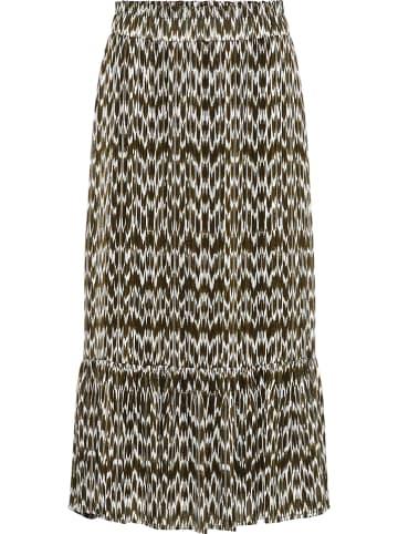 Y.A.S Spódnica w kolorze oliwkowo-białym