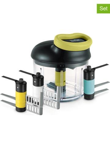 """Tefal 5-delige hakmolenset """"Ingenio Maxi-Kit"""" zwart/groen - 900 ml"""