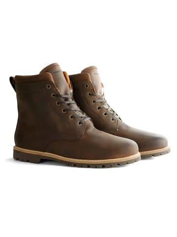 """TRAVELIN' Leren boots """"Esbjerg"""" donkerbruin"""
