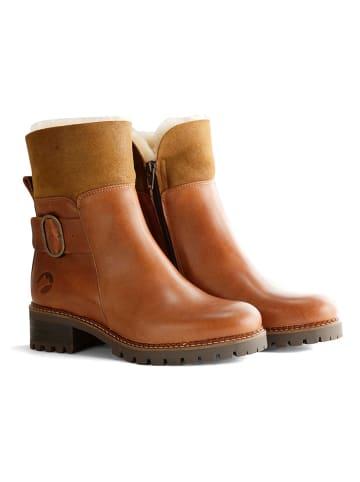 """TRAVELIN' Leren boots """"Gete"""" cognackleurig"""
