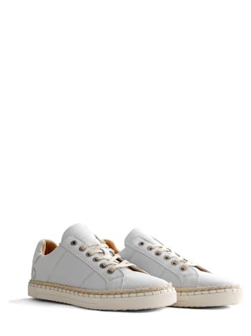 """TRAVELIN' Leren sneakers """"Moulins"""" wit"""