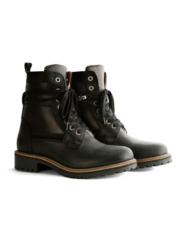 "TRAVELIN' Leder-Boots ""Nordfold"" in Schwarz"
