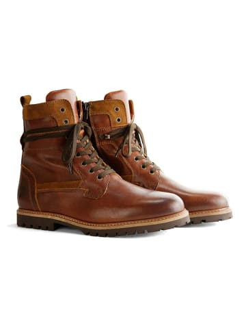 """TRAVELIN' Leder-Boots """"Nordfold"""" in Cognac"""