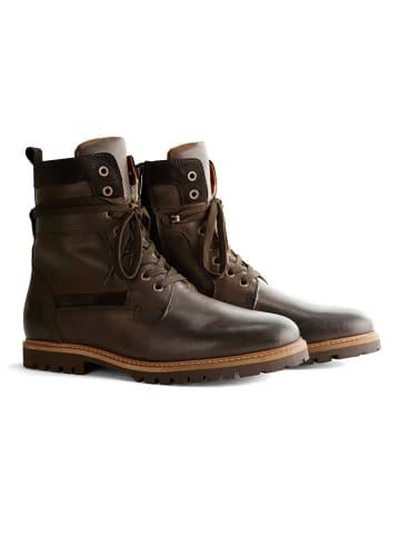"TRAVELIN' Leder-Boots ""Nordfold"" in Dunkelbraun"
