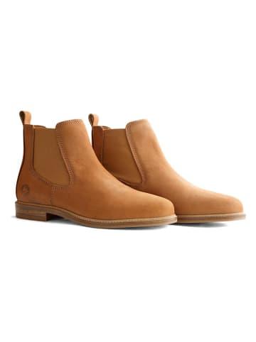 """TRAVELIN' Leder-Chelsea-Boots """"Paris"""" in Cognac"""