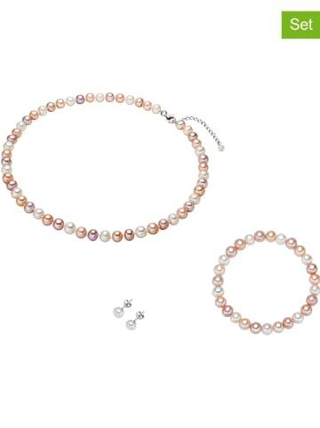 Nova Pearls Copenhagen 3-częściowy zestaw biżuterii