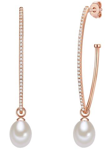 The Pacific Pearl Company Rosévergulde halfcreolen met zoetwaterkweekparels