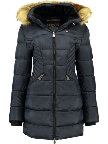 """Geographical Norway Winterjas """"Abby"""" donkerblauw"""