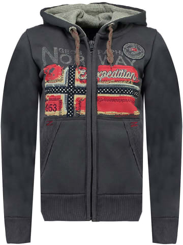 """Geographical Norway Sweatvest """"Farlotte"""" antraciet"""