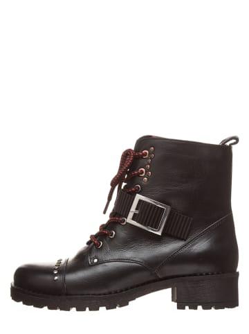 Lazamani Leder-Boots in Schwarz