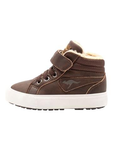 """Kangaroos Sneakers """"KaVu"""" donkerbruin/zandkleurig"""