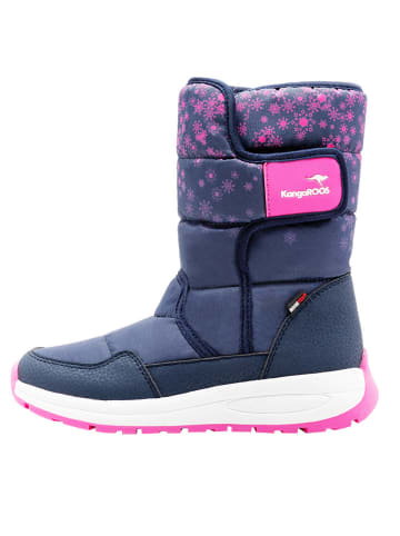 "Kangaroos Winterboots ""K-Fluff RTX"" in Dunkelblau/ Pink"