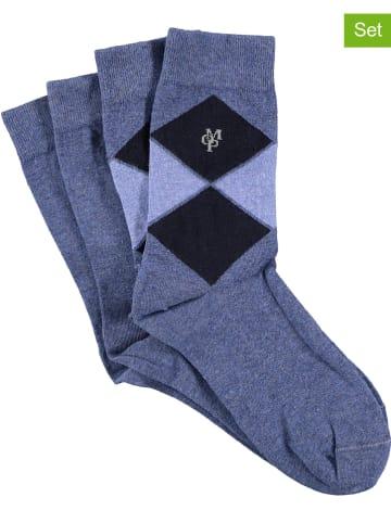 Marc O'Polo 4-delige set: sokken blauw