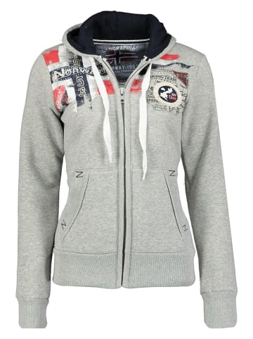 "Geographical Norway Sweatvest ""Fespote"" grijs"