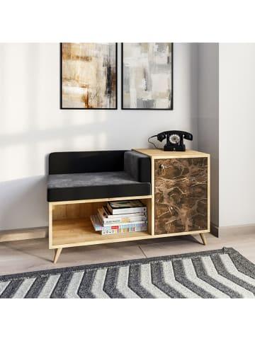 """Scandinavia Concept Kredens """"Anzer"""" w kolorze antracytowo-brązowym - 100 x 60 x 45 cm"""