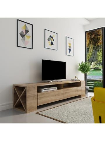 """Evila TV-meubel """"Sosruko"""" walnootkleurig - (B)155 x (H)35 x (D)35 cm"""