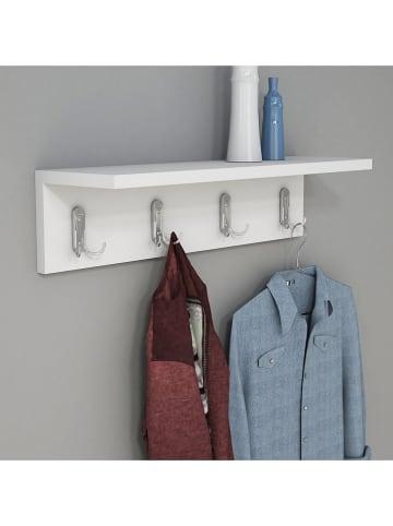 "Scandinavia Concept Wandgarderobe ""Ayla"" in Weiß - (B)60 x (H)14,5 x (T)16,3 cm"