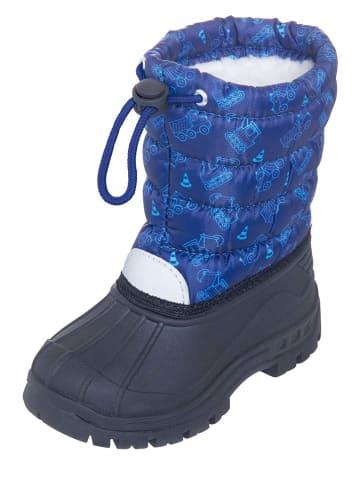 Playshoes Kozaki zimowe w kolorze czarno-niebieskim