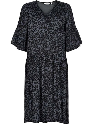 "NÜMPH Kleid ""Jemsa"" in Schwarz/ Grau"