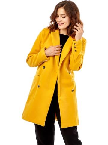 Synonyme Georges Rech Płaszcz w kolorze żółtym